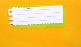 Neem nota van document Royalty-vrije Stock Fotografie