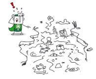 Neem nota van het groene water royalty-vrije illustratie