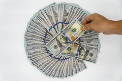 Neem 100 op ons dollar Royalty-vrije Stock Afbeeldingen