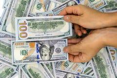 Neem 100 op ons dollar Royalty-vrije Stock Afbeelding
