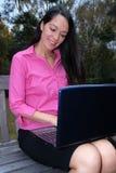 Neem overal uw laptop Royalty-vrije Stock Foto