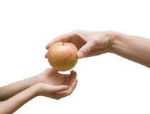 Neem rode appel Royalty-vrije Stock Foto's