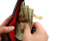 Neem uw geld Stock Fotografie