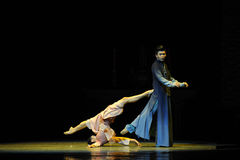 Neem vlucht van dood - De derde handeling van de gebeurtenissen van dans drama-Shawan van het verleden Stock Foto's