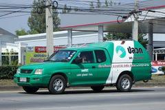 Neem vrachtwagen van Unipest-bedrijf op Royalty-vrije Stock Foto
