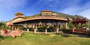 Neemrana堡垒宫殿,拉贾斯坦,印度全景  免版税库存图片