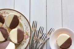 Neenish Tarts on Table from Above Horizontal Royalty Free Stock Photos