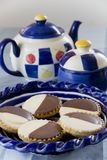 Neenish Tarts and Teapot Royalty Free Stock Photography