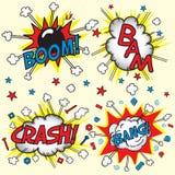 Neerstorting, Klap, Boom en Klap! Stock Afbeeldingen