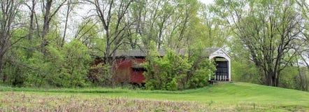 Neet-überdachte Brücke in Parke County HEREIN stockbilder