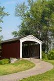 Neet Covered Bridge crosses Little Raccoon Creek, Parke County, Royalty Free Stock Photography