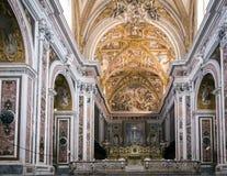 Nef centrale de Certosa di San Martino à Naples, Italie photos libres de droits