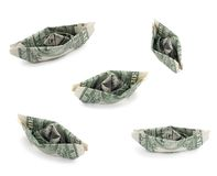 Nef des USA d'un argent du dollar Photographie stock