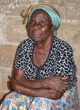 NEFAST EFFECT OF POST ELECTORAL CRISIS IN COTE D`IVOIRE. Elderly person with sad face, victim of emotional and physical trauma during the post-election crisis stock photos