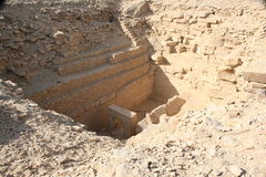 NEFEREFRE金字塔-地下房间 库存图片