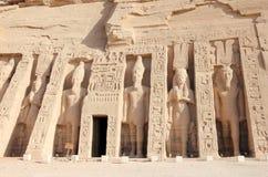 Nefertari小寺庙  abu埃及simbel 免版税库存照片