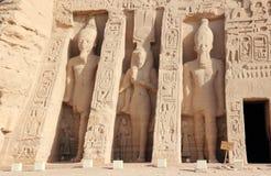 Nefertari小寺庙  abu埃及simbel 图库摄影