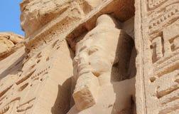 Nefertari小寺庙  abu埃及simbel 库存图片
