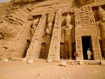 Nefertari& x27 ναός του s Στοκ Εικόνες
