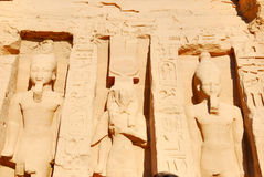 Nefertari and Ramses II Royalty Free Stock Photography