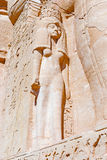 Nefertari statue in Abu Simbe Tempel Royalty Free Stock Images