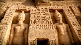 Nefertari temple, Abu-Simbel Stock Photography