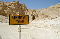 Nefertari Tomb sign, Valley of the Queens Stock Photography