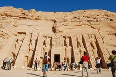 Nefertaris Tempel Abu Simbel am Tempel Stockfotos
