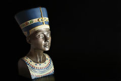 Nefertiti. Modern touristic souvenir, copy of Queen Nefertiti's head Royalty Free Stock Photography