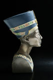 Nefertiti. Modern touristic souvenir, copy of Queen Nefertiti's head; in profile Stock Photos