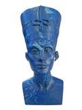 Nefertiti. Sculpture of Nefertiti - isolated on white background Royalty Free Stock Image