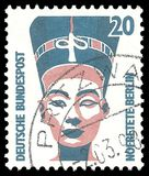 Nefertiti Bust. Germany - stamp 1994: Edition on Royal families, shows Nefertiti Bust Royalty Free Stock Photography