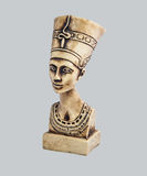 Nefertiti. Bust of the queen of Egypt Nefertiti in the imperial clothes, looking in a distance Stock Images