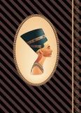 Nefertiti da História ilustração do vetor