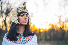 Nefertiti13. Girl dressed in vintage clothing Nefertiti Royalty Free Stock Photo