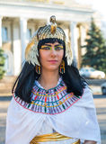 Nefertiti13. Girl dressed in vintage clothing Nefertiti Royalty Free Stock Photos