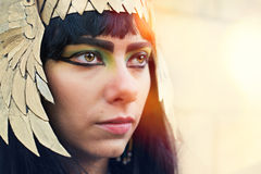 Nefertiti1. Girl dressed in vintage clothing Nefertiti Royalty Free Stock Photo