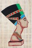 Nefertiti On Papyrus vektor illustrationer