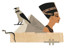 Nefertiti Papyrus Banner Royalty Free Stock Photos