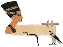 Nefertiti Papyrus Banner Stock Photo