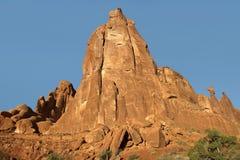 Nefertiti Rock bågar nationalpark, Utah, USA fotografering för bildbyråer