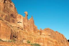 Nefertiti Rock bågar nationalpark, Utah, USA royaltyfri foto