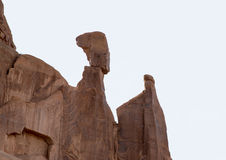 Nefertiti's head rock formation at Arches National Park Moab Utah. Royalty Free Stock Images