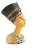 Nefertiti Sculpture. Painted Nefertiti Sculpture Souvenire Isolated Over White Background Stock Images
