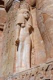 Nefertiti-Statue in Abu Simbel Temple Stockfotos