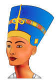 Nefertiti - vector Stock Photos