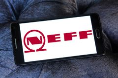 Neff company logo. Logo of Neff company on samsung mobile. Neff is a German manufacturer of high-end kitchen appliances headquartered in Munich, Germany Stock Photography