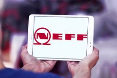 Neff company logo. Logo of Neff company on samsung tablet. Neff is a German manufacturer of high-end kitchen appliances headquartered in Munich, Germany Stock Photos