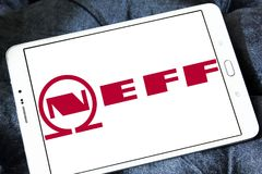 Neff company logo. Logo of Neff company on samsung tablet. Neff is a German manufacturer of high-end kitchen appliances headquartered in Munich, Germany Stock Image