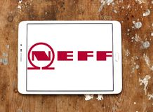 Neff company logo. Logo of Neff company on samsung tablet on wooden background. Neff is a German manufacturer of high-end kitchen appliances headquartered in Stock Images